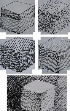 Arceren: techniek bij het tekenen, een toon maken door vele min of meer evenwijdige lijnen naast elkaar te zetten Drawing Tutorials For Beginners, Hatch Drawing, Ink Art, Hard Drawings, Drawings, Graphic Illustration, Chiaroscuro, Cool Art Projects, Ink Sketch