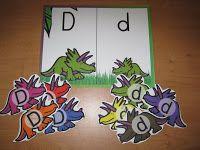 Prek Dinosaur Letter D  uppercase and lowercase sorting
