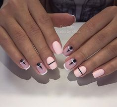 Interesting Geometric Nail Art Ideas, You Need To Try To Choose Is Endless - Page 11 of 21 - Dazhimen Manicure Nail Designs, Nail Manicure, Nail Art Designs, Nails Design, Design Design, Prom Nails, Fun Nails, Pretty Nails, Nail Deco