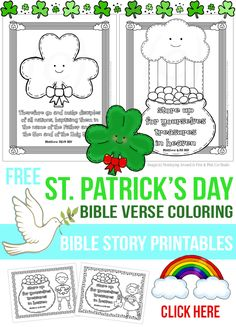 Hot off the press and ready for St. Patrick's Day 2015 is this adorable set of five different Bible Verse coloring pages you can use with your kiddos this March. This set includes two different scriptures Matthew 6:30, and Matthew 28:19 and provides you with a variety of different pages you can present to children. …