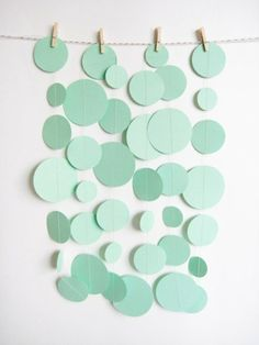 mint green - part of DIY photo booth backdrop