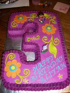 Dora Birthday Cake For Party Cakes Ideas Pictures