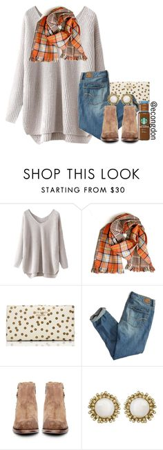 """so cold this week"" by pumpkinsandprep ❤ liked on Polyvore featuring Kate Spade, American Eagle Outfitters, H by Hudson and Kendra Scott"