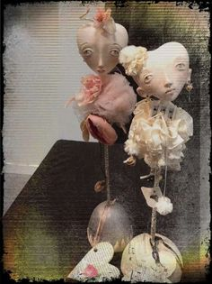By GSR DollArt these are beautiful art dolls.