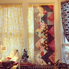quilted curtains