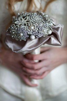 silver bling bouquet via Etsy. Bling Bouquet, Wedding Brooch Bouquets, Crystal Bouquet, Vip Fashion Australia, Wedding Events, Wedding Ideas, Weddings, Wedding Bells, Trendy Wedding
