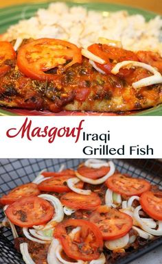 Iraq s National Dish Masgouf is grilled white fish smothered in a spicy tomato sauce and served over rice PERFECTION White Fish Recipes, Greek Recipes, Vegan Recipes Easy, Meat Recipes, Seafood Recipes, Cooking Recipes, Rice Recipes, Arabic Recipes, Cooking Tips