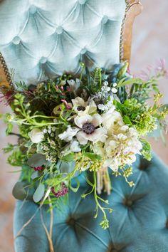 Vintage inspired bouquet: http://www.stylemepretty.com/wisconsin-weddings/2015/05/27/luxurious-boho-warehouse-wedding-inspiration/   Photography: Maison Meredith - http://www.maisonmeredith.com/