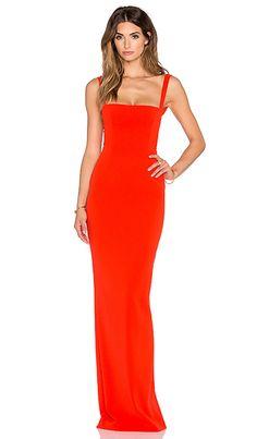 SOLACE London Crockett Maxi Dress em Vermelho   REVOLVE