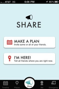 """Two call to actions from """"share"""""""