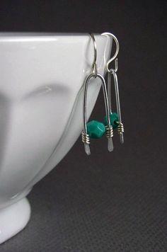 Wire Wrapped Earrings Beaded Earrings #wire #jewelry