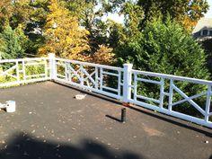 Custom Wood Post and Rail Balcony Railing