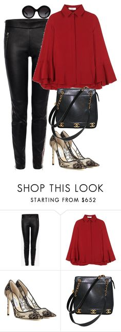 """Untitled #1514"" by rowan-asha ❤ liked on Polyvore featuring Alexander McQueen, Valentino, Jimmy Choo, Chanel and Dolce&Gabbana"