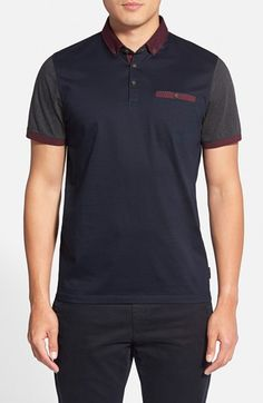 79014eae4f7e8 Ted Baker London  Pinknor  Short Sleeve Colorblock Polo available at   Nordstrom Ted Baker