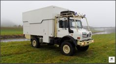 Unimog U2450 4x4 Expedition Truck with lift roof