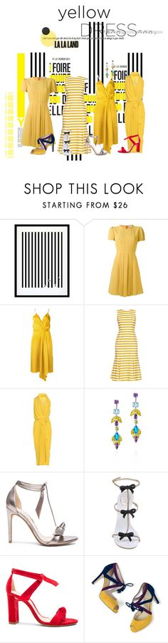 """#YELLOWDRESS"" by egchee ❤ liked on Polyvore featuring Sebastian Professional, Eleanor Stuart, RED Valentino, Victoria Beckham, Dolce&Gabbana, Rick Owens, Fallon, Alexandre Birman, René Caovilla and Boden"