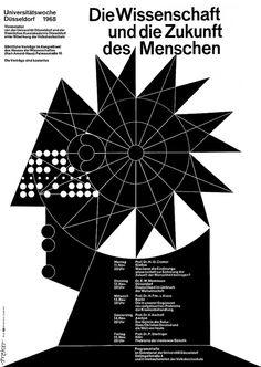 Breker (Walter, DE) 1968 Die Wissenschaft und die Zukunft des Menschen Universitätswoche Düsseldorf Plakat A1 | Flickr - Photo Sharing!