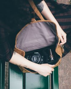 Our brand new leather camera bag will make all of your photography dreams come true! We have created the bag in a stylish and practical way so all you have to worry about is taking beautiful photo's. Leather Camera Bag, Leather Wallet, Leather Bag, Contemporary Fonts, Nikon D700, Large Purses, Camera Hacks, Camera Case, Leather Journal