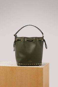 bf9b8dc01fe Rockstudj small bucket bag #hand#carried#Valentino Valentino Clothing, Valentino  Bags,