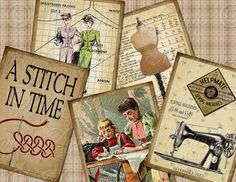 A Stitch In Time / Sewing / Needlework  by MasterpieceDesigns