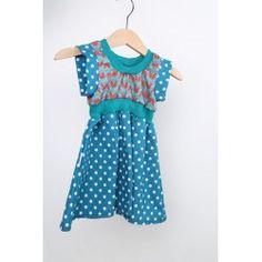 """Kleid """"Lisi"""" mit Punkten & Blumen // Gr.62-68"""