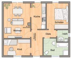 Fertighaus grundrisse  Architekten-Haus Fertighaus Finess Grundriss EG | Casa | Pinterest ...