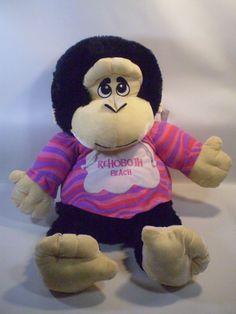 "JUMBO 32"" Goffa Brown Monkey Chimp Plush Chimpanzee Rehoboth Beach Pink Hoodie"