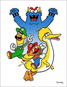 Sesame Mario Bros.