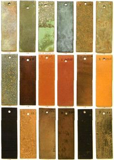 Bronze Patina Color Chart Patina Finishes Live Work