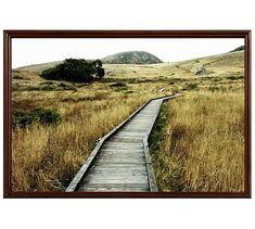 """The Journey Awaits Framed Print by Lupen Grainne, 42 x 28"""", Ridged Distressed Frame, Espresso, No Mat"""