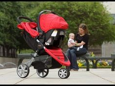 Britax B-Agile and B-Safe Travel System Color Red
