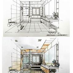 Home Decorators Luxury Vinyl Plank Interior Architecture Drawing, Interior Design Renderings, Architecture Design, Architecture Presentation Board, Drawing Interior, Interior Rendering, Interior Sketch, Interior Exterior, Architecture Sketchbook