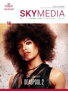 Royal Air Maroc's SkyMedia IFE Magazine September designed by Inflight Dublin The Miracle Season, Angie Tribeca, Air Serbia, Deadpool, Teenage Warhead, Raising Hope, The Big Year, Major Crimes, Morena Baccarin
