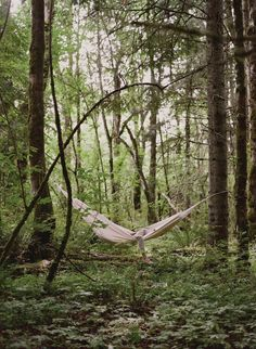 A hammock in the woods. Image from Kinfolk magazine. The most perfect cessation of activity.