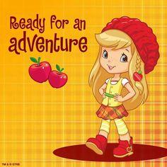 Ready for an adventure, Apple Dumpling? Strawberry Shortcake Cartoon, Strawberry Shortcake Coloring Pages, Apple Dumplings, Baby Washcloth, Human Drawing, Cartoon Pics, Cartoon Picture, Rainbow Brite, Hippie Art