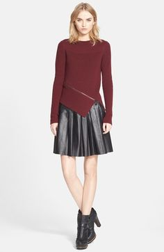 Belstaff 'Baylee' Zip Detail Wool Sweater available at #Nordstrom