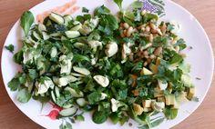 groene salade schaal