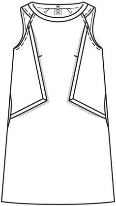 Платье-футляр расклешенного силуэта - выкройка № 109 из журнала 6/2016 Burda – выкройки платьев на Burdastyle.ru