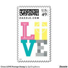 Cross LOVE Postage Stamp