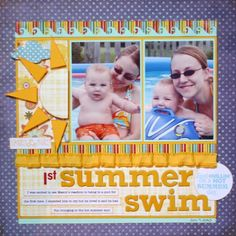 #papercrafting #scrapbook #layout Scrapbook page idea - 2 pics