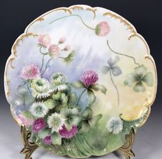 Beautiful Limoges France Plate Gold Trim