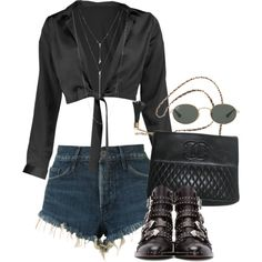 Untitled #3351 by camilae97 on Polyvore featuring polyvore, fashion, style, Boohoo, 3x1, Givenchy, Chanel, ALDO, Ray-Ban and clothing