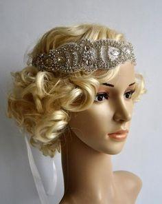 Glamour Cristal Applique Bandeau Prêt à expédier Belle Vintage style garçonne bandeau. Parfait pour une jeune mariée vintage inspiré, mariage ou Great Gatsby le parti de 1920 ou d'occasions spéciales