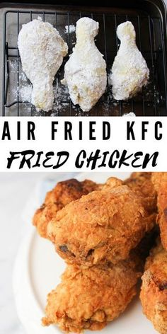 Air Fryer Fried Chicken, Air Fried Food, Fried Chicken Recipes, Fried Chicken Recipe Airfryer, Baked Chicken, Buttermilk Fried Chicken, Crispy Fried Chicken, Keto Chicken, Eating Clean