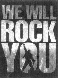 We Will Rock You, Queen - Classic rock music concert psychedelic poster !! ~