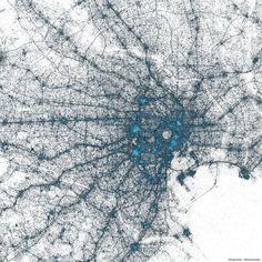 東京のマッピング画像(Twitter公式ブログより画像転載)