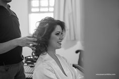 Making of da noiva Paula para penteado com trança.