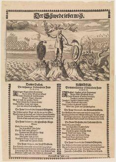 Propaganda leaflet 'der Schwede lebet noch', probably printed early 1633 in Saxony.