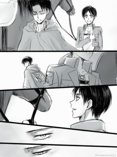 Levi and his way at looking at Eren.