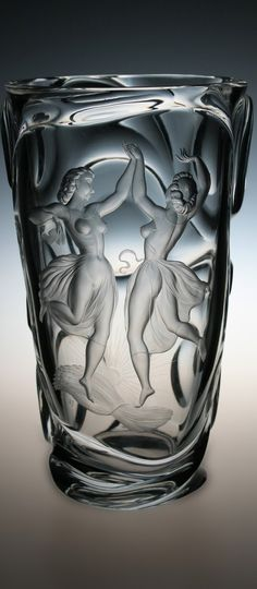 Jindřich Tockstein Art Nouveau, Glass Etching, Etched Glass, Glass Engraving, Glass Paperweights, Czech Glass, Stained Glass, Glass Art, Etchings